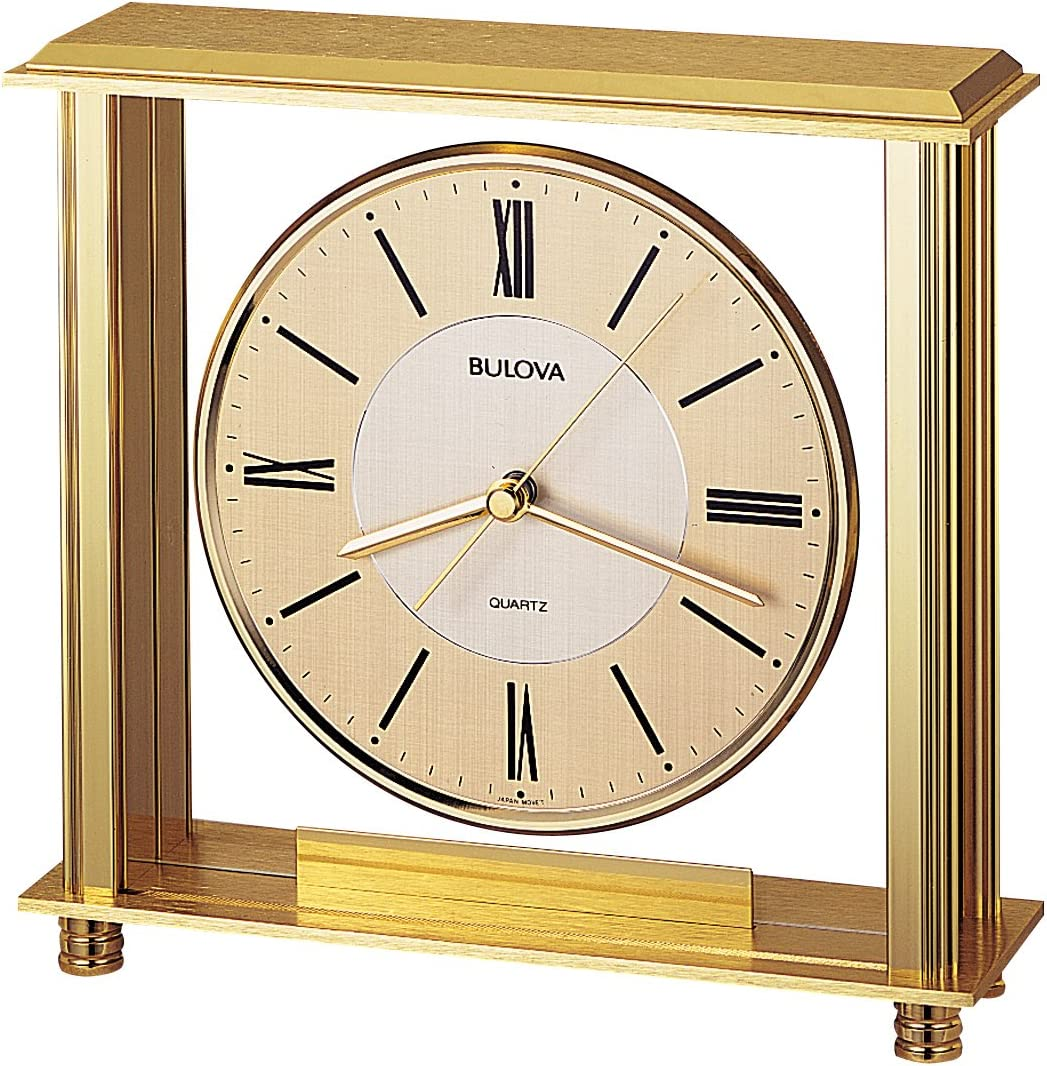Bulova B1700 Grand Prix Clock, Brass