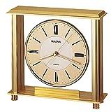 Bulova B1700 Grand Prix Clock, Antique Brass Finish