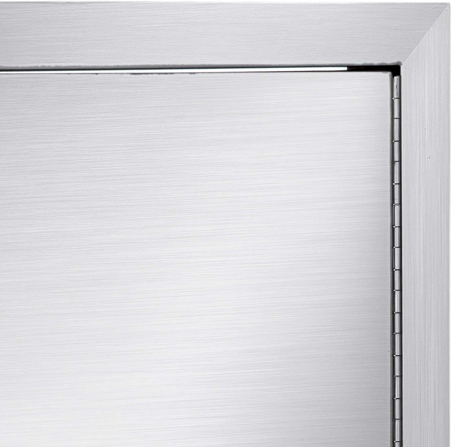 Moracle Puerta de Acceso para Barbacoa de 36 x 51 CM con Respiraderos Puerta Vertical de laIsla Puerta de Acero Inoxidable de Una Sola Puerta para Cocina al Aire Libre