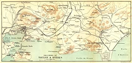 Amazon.com: VAR: Environs of Toulon & Hyères;1888 map ...