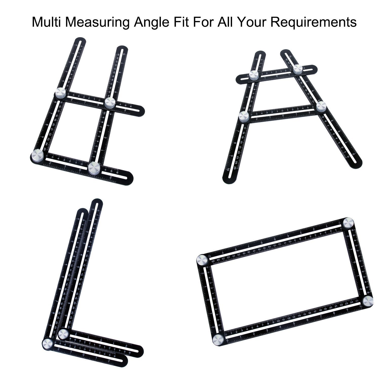 Winkelschablone Werkzeug Aluminium Angle-izer Vorlage Werkzeug für Handymen Builders Handwerker Von WOWGO [Updated Version]