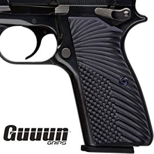 Guuun G10 Grips for Browning Hi Power and Tisas Regent BR9, OPS Eagle Wings Texture