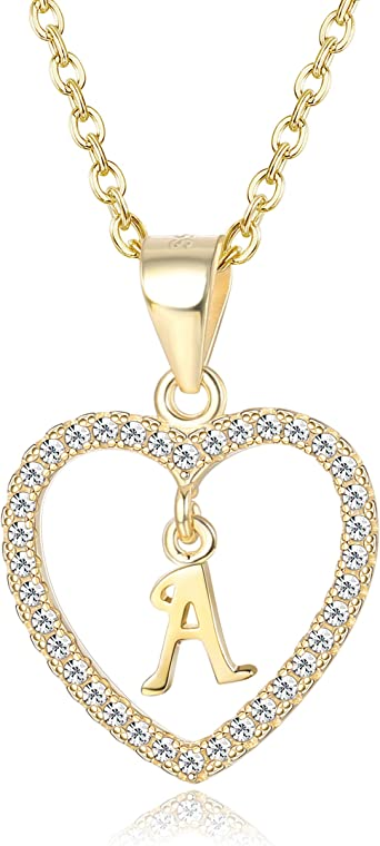 925 Sterling Silver Cubic Zirconia Initial P Shaped Pendant