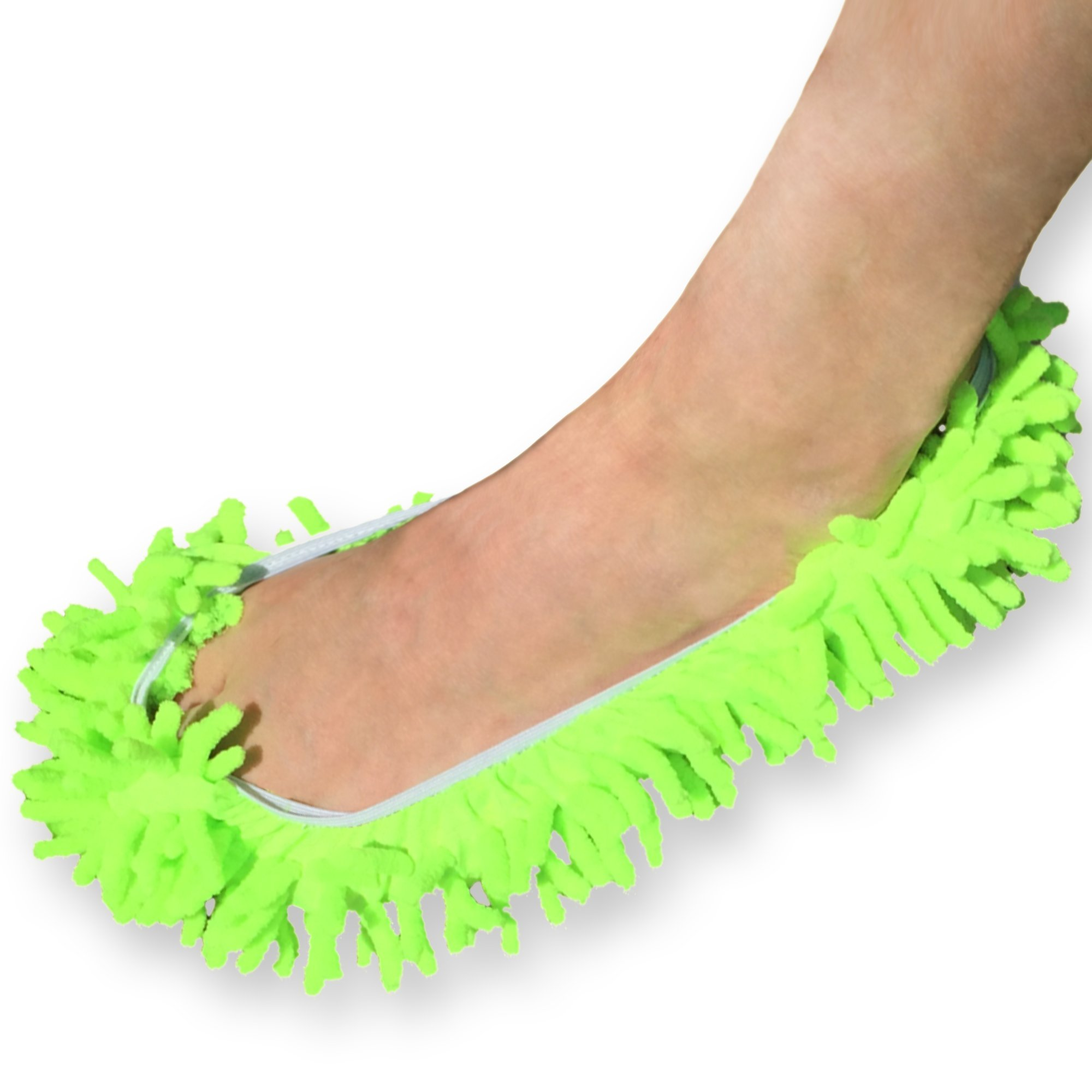 Chenille Wash & Dust Microfiber Mitt - Premium Scratch-free Used for Car, Home, Electronics, Windows (Lime - Foot)