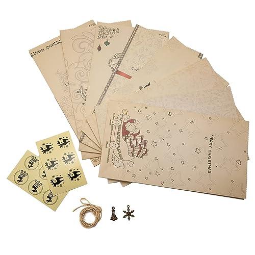 KING DO WAY Lot De 8 Pcs Sacs De Cadeau D'emballage Recyclable En Papier Kraft Décor Noël Mariage Anniversaire Fête Partie Recyclable Gift Bag