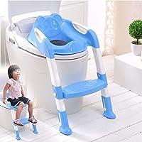Siège de toilette bleu pour bébé avec échelle pour apprendre à être propre - SQ Pro