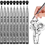 Black Micro-Pen Fineliner Ink Pens - Waterproof Archival Ink Micro Fine Point Drawing Pens for Sketching, Anime, Manga…