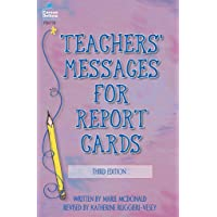 Teachers' Messages For Report Cards, 3Rd
