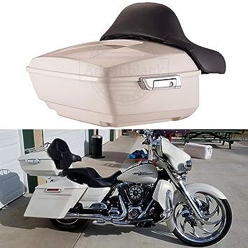 Moto OnFire Marruecos Oro Pearl tour-pak Pack equipaje Tronco funda con respaldo para Harley