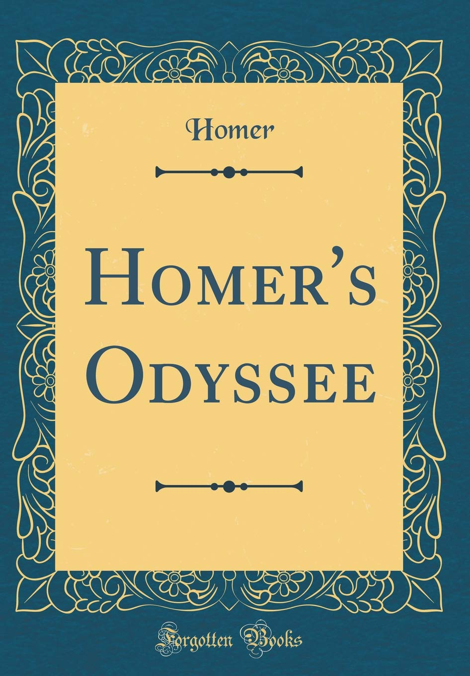 Homer's Odyssee (Classic Reprint)