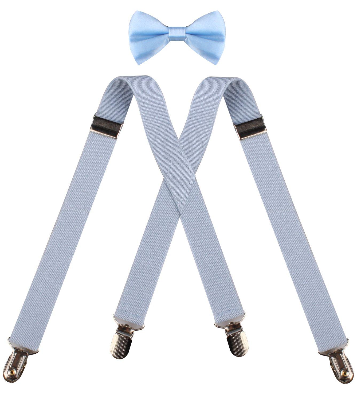 CEAJOO Men Boy's Suspenders and Bow Tie Set Adjustable XAKUDES01001