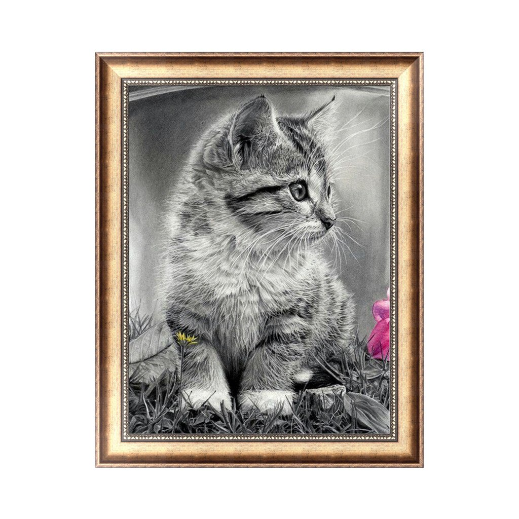 LANDUM DIY 5D Diamond Painting Embroidery Cross Stitch Craft Home Decor Cat