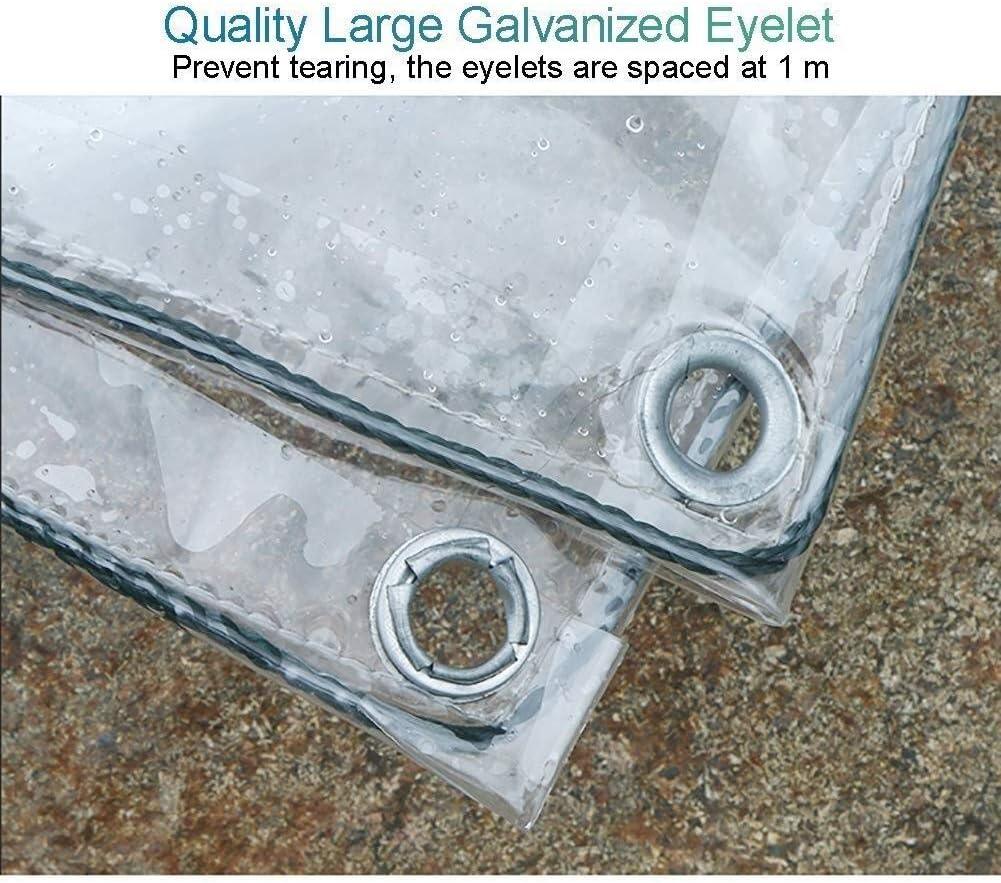 Size : 1m x 2m LISI PVC Wasserdichtes Tuch 350 G//M/² Heavy Duty Klar Gew/ächsh/äuser Premium Quality Persenning Tarp Pflicht Sheeting Regenfest Freizeitm/öbel Cover