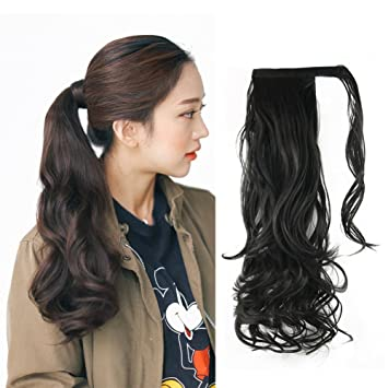 Amazon Com Synthetic Ponytail Hair Extensions Remeehi 24