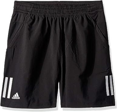 Adidas Pantalones Cortos De Tenis De 3 Rayas Para Hombre Hombre Pantalones Cortos S1907m505b Negro Blanco M Amazon Es Ropa Y Accesorios