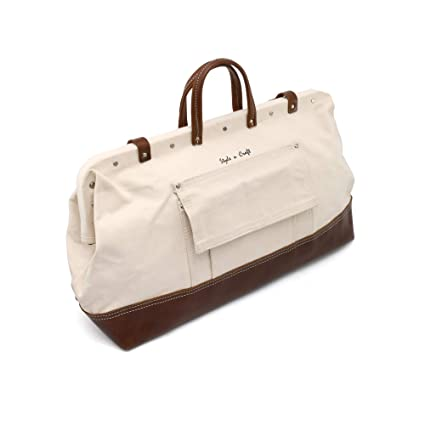 a56d35f7d907 Image Unavailable. Image not available for. Color  Style n Craft 97517  20 quot  Mason s Tool Bag in Canvas Top Grain Leather Combination