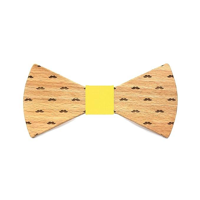 Territorial Pajarita de madera Diamond. Colección de moda hombre: Confeccionada en España Wood. Línea boda y eventos. Regalo elegante y… 8u5lL