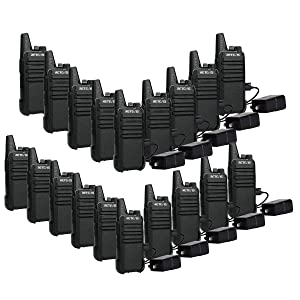 Retevis RT22 Walkie Talkies Long Range Rechargeable with Alarm VOX 16CH FRS Radio CTCSS/DCS Handfree Security Two-Way Radios (20 Pack)