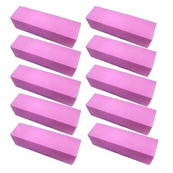 ReNext 10 Pcs Pink Buffer Buffing Sanding Block File Manicure Pedicure For Nail Art