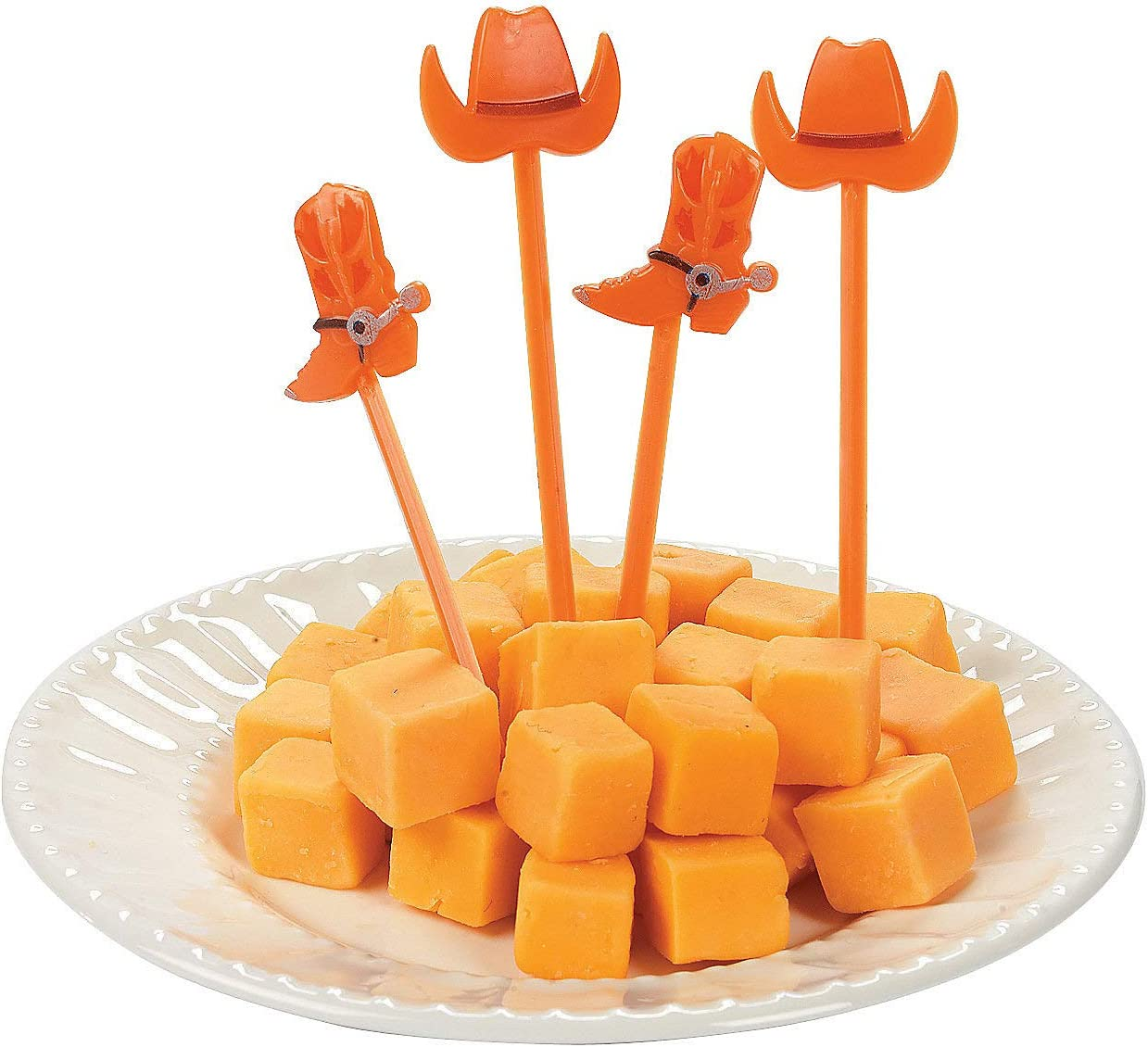 Western Hat and Cowboy Boot Picks (bulk set of 72) Cowboy Party Supplies