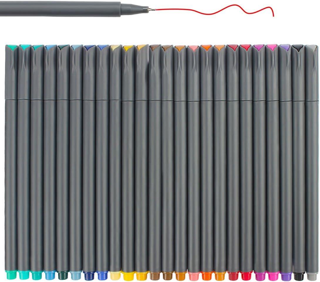 Niutop Planner Pens 0.38mm Colored Sketch Drawing Pens