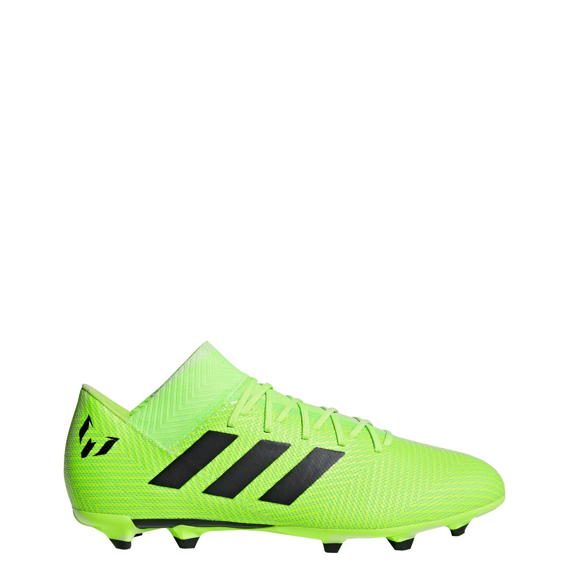 adidas Men's Nemeziz Messi 18.3 Firm Ground Soccer Shoe, Solar Green/Black/Solar Green, 6.5 M US by adidas