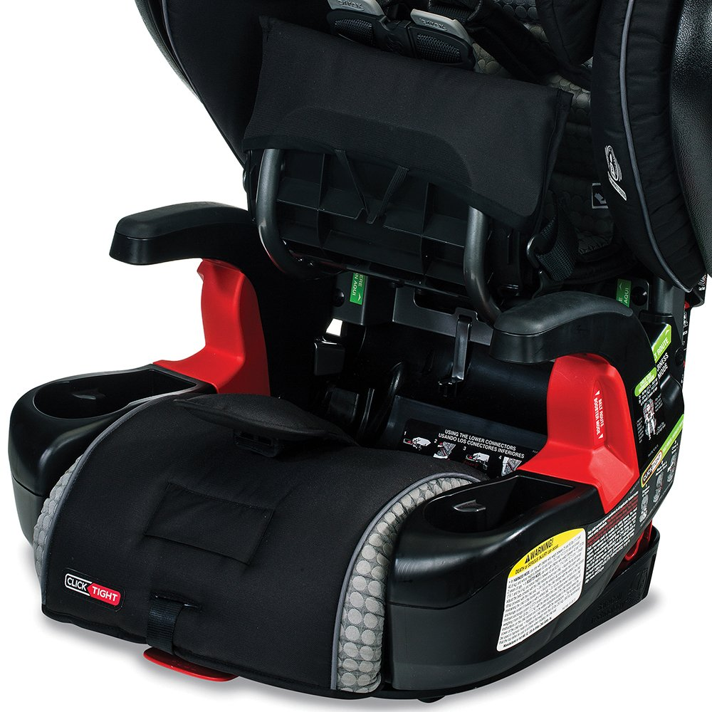 Britax Pinnacle ClickTight Cool Flow Harness 2 Booster Car Seat Grey USA
