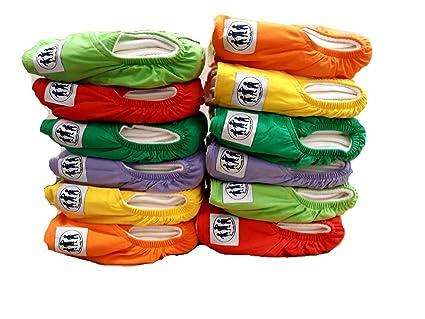 Pañales de tela reutilizables naturales de bambú (2 inserta cada pañal) - Pañuelos Eco