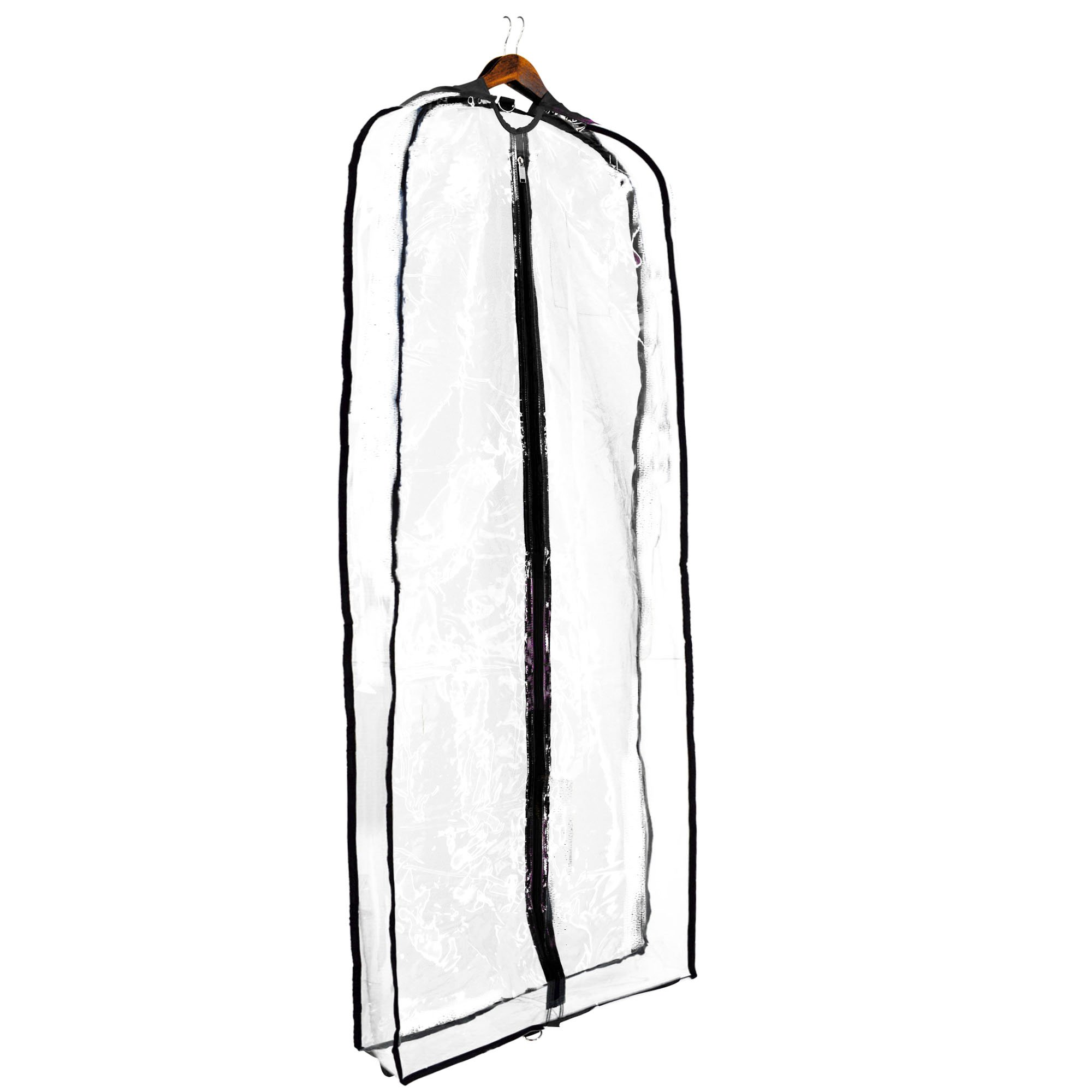 DALIX 60'' Clear Garment Bag Travel Costume Long Dress Gown Dance (Clear)