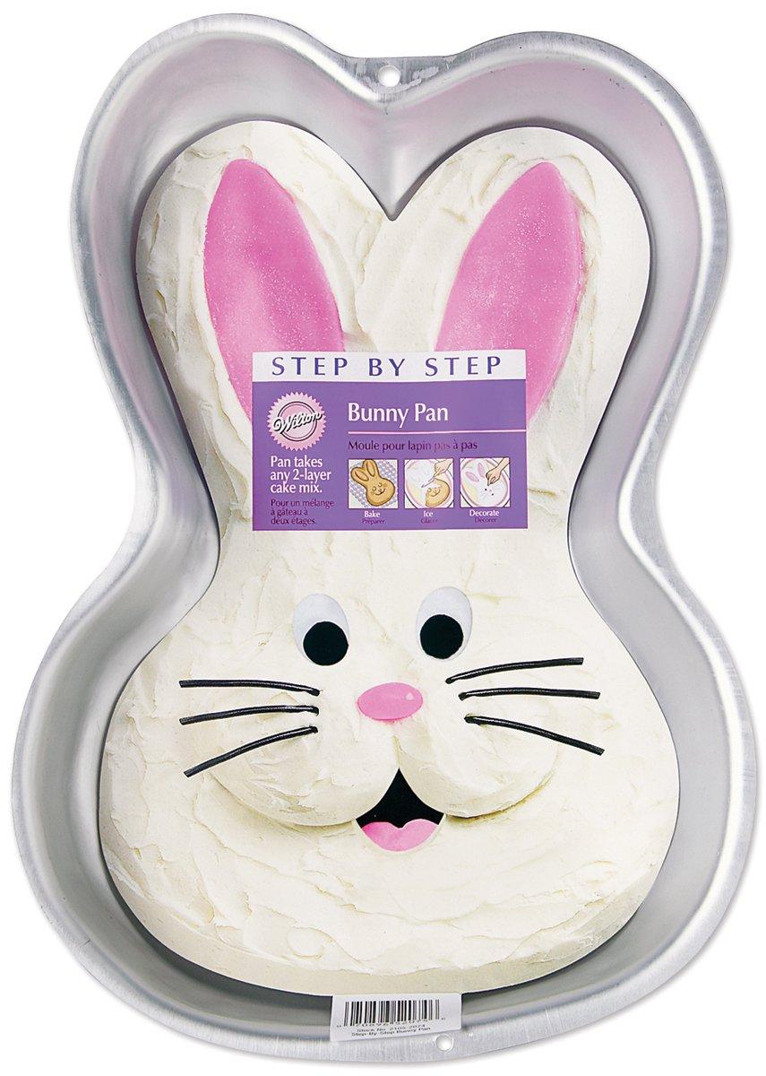 Amazon.com: Wilton Step-by-Step Bunny Pan: Novelty Cake Pans ...