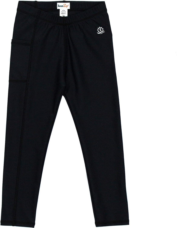 SwimZip Kids Swim Pants - Girls & Boys UPF 50+ Swim Leggings - Multiple Colors