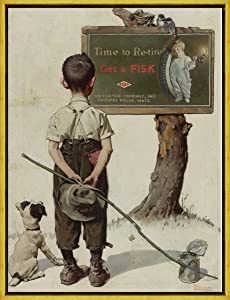 Berkin Arts Framed Norman Rockwell Giclee Canvas Print Paintings Poster Reproduction(Untitled 27)#XLK