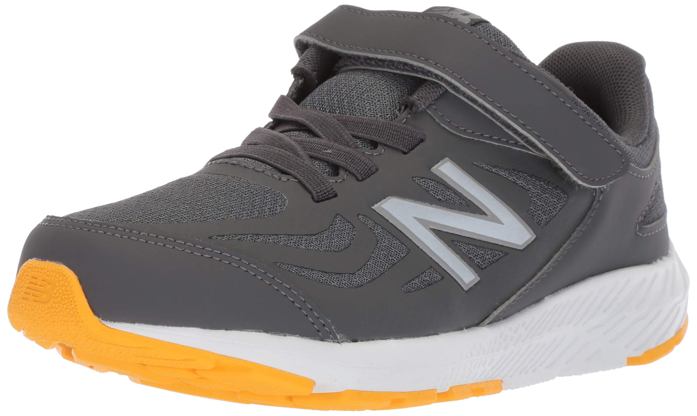 New Balance Boys' 519v1 Hook and Loop Running Shoe, Magnet/Phantom, 2 M US Infant