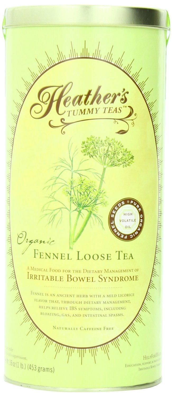 Heather's Tummy Teas Organic Fennel Loose Tea CAN (16 oz) for IBS