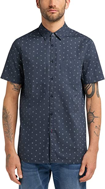 Mustang Collin Basic AOP Camisa para Hombre: Amazon.es: Ropa y accesorios