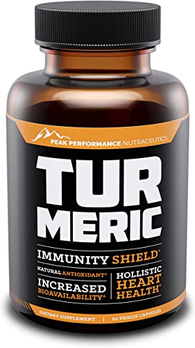 Turmeric Curcumin Supplement with BioPerine Dietary Supplement. All Natural, Organic Turmeric for Joint Pain Relief, Knee Pain Relief and Support. Anti-Inflammatory and Antioxidant. 60 Capsules