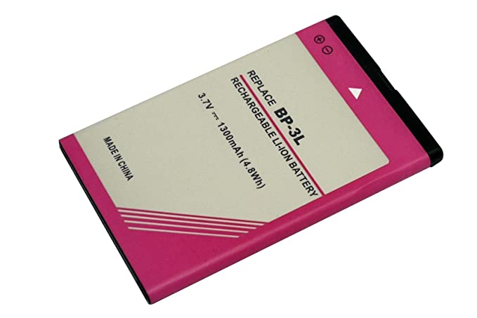 dfc5b61b78c 3.7 V 1300 mAh 4.8 WH bp-3l Batería para Nokia 303, 510, 603, 3030 ...