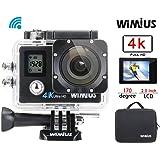 Camera Sport 4K WiMiUS Q4, Caméra de Sport Embarquée Ultra HD 16MP WiFi, Caméra D'action Etanche 40m avec Housse Portable et Kit d'Accessoires (Noir)
