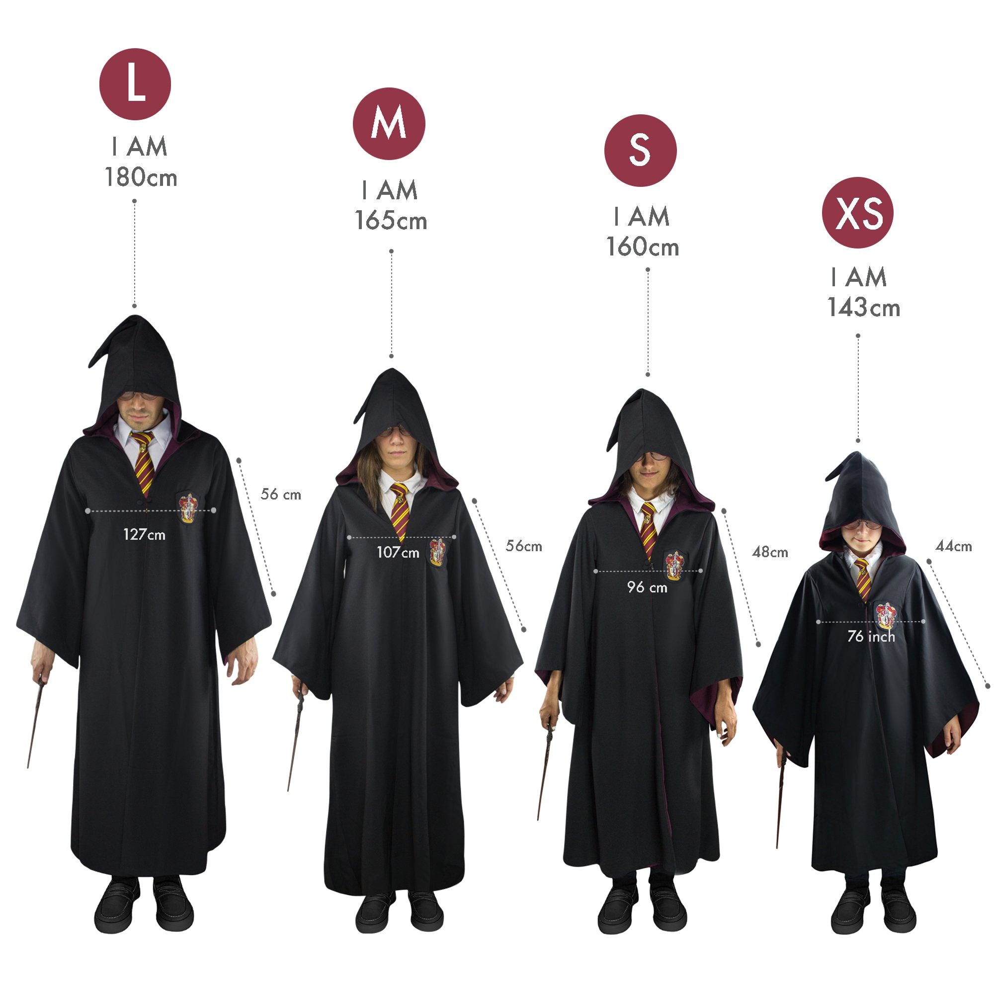 Harry Potter Authentic Tailored Wizard Robes Cloak by Cinereplicas by Cinereplicas (Image #7)