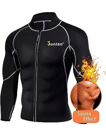 71055d091d237 Men Sweat Neoprene Weight Loss Sauna Suit Workout Shirt Body Shaper Fitness  Jacket Gym Top Clothes