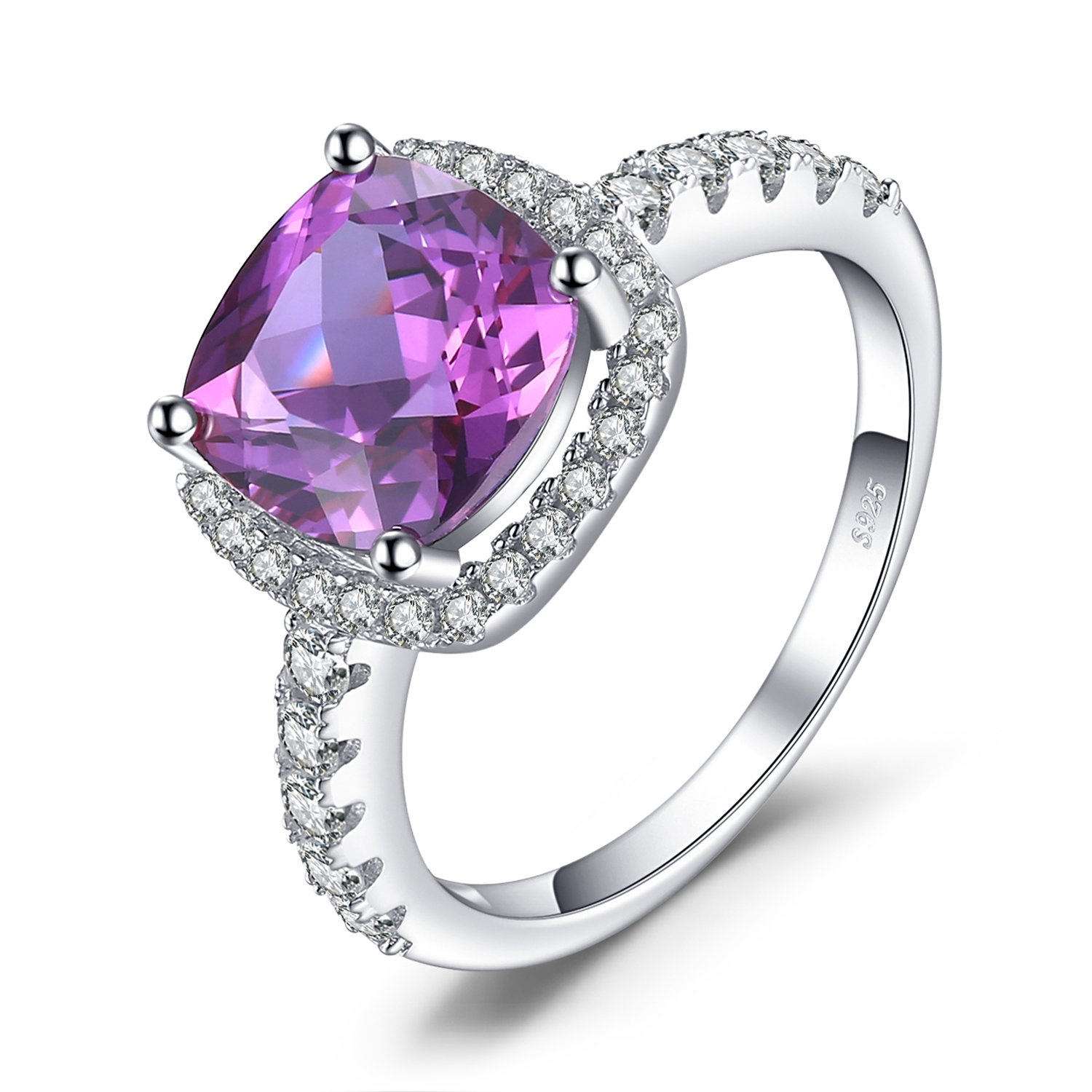 JewelryPalace luxe 5.35ct Alexandrite Saphir de Synthese Cocktail Bague en Argent 925 EU-AR210961