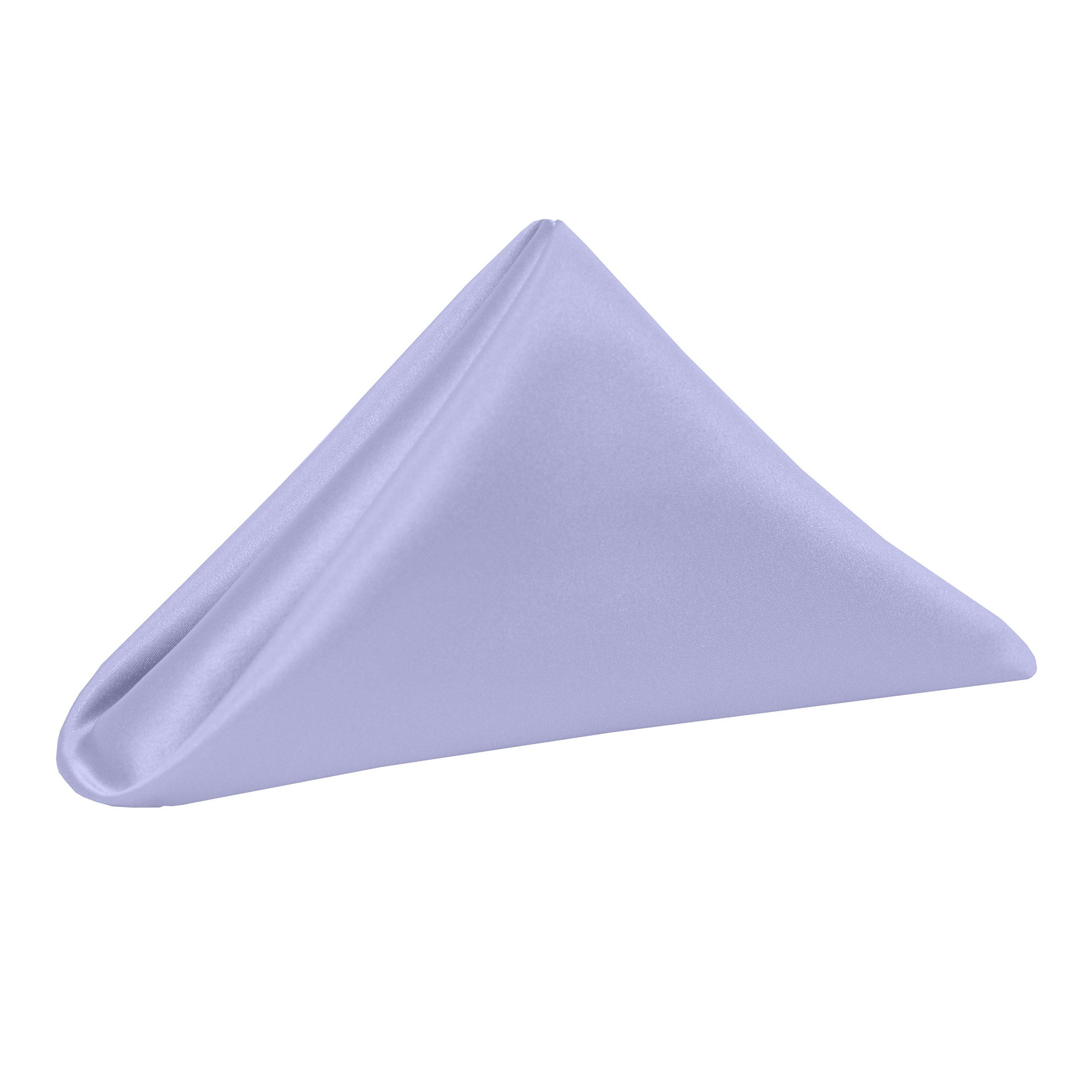 Ultimate Textile -5 Dozen- Bridal Satin 20 x 20-Inch Dinner Napkins, Lilac Light Purple