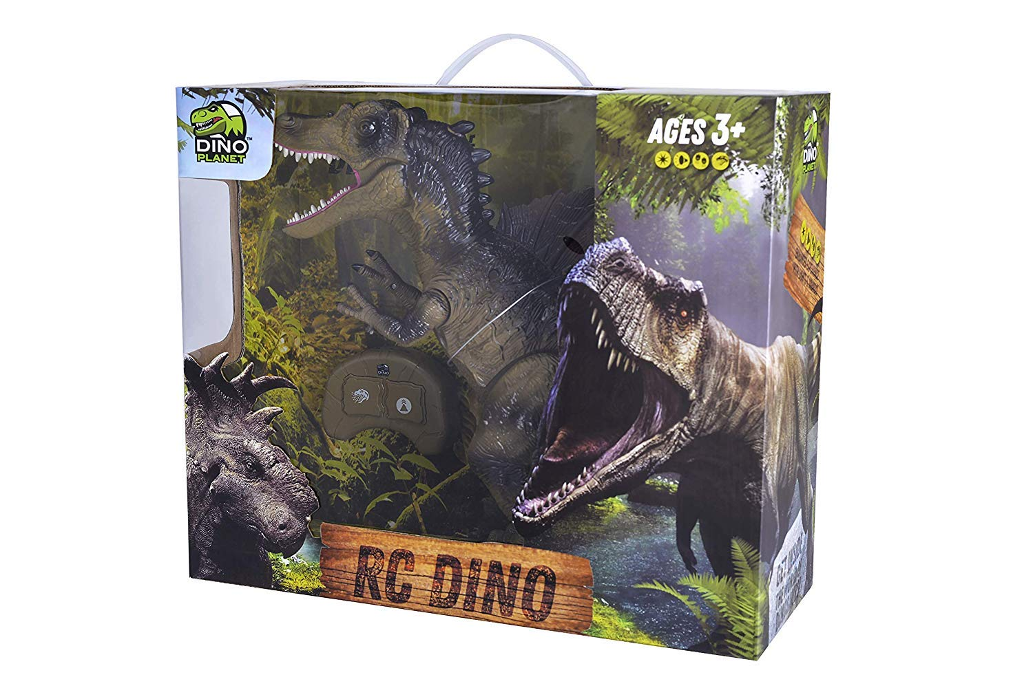 Build Me Remote Control Dinosaur Toy for Kids with Roaring Sounds and Smoking Breath. RC Spinosaurus Dino with Glowing Eyes, Walking Movement, Shaking Head. by Build Me (Image #7)