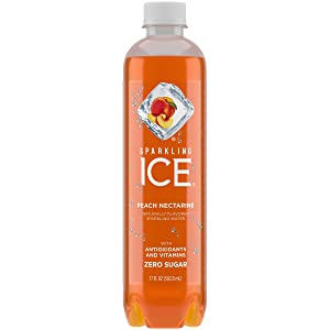 Sparkling ICE Spring Water (Peach Nectarine, 17 Oz Pack of 12 Units)