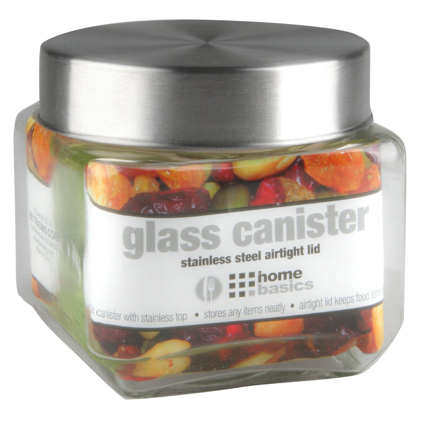 Home Basics Glass Jar, Square, Small HDS Trading Corp GJ10820