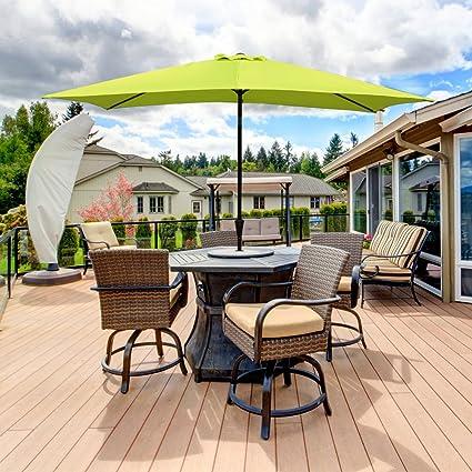 amazon com cobana rectangular patio umbrella outdoor table market rh amazon com Patio Umbrella Accessories Metal Patio Umbrella Amazon
