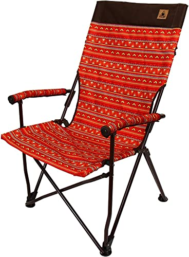 Kazmi Easy Relax Camping Chair – Folding Portable Outdoor Chair with Durable Carry Bag – Lightweight, Supports 265lbs for Backpacking, Hiking, Picnic, Festival