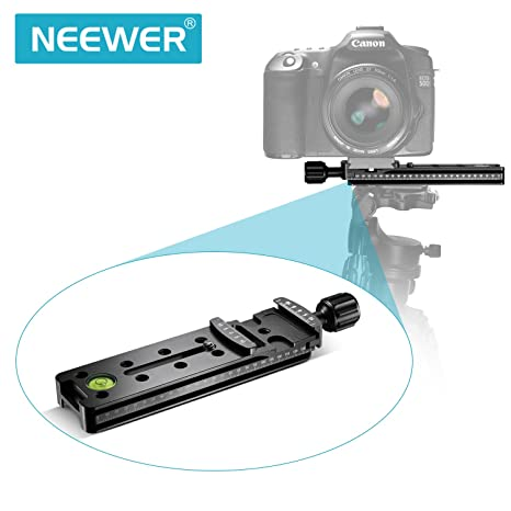 Neewer – 140 mm Arca Swiss profesional Rail Nodal Slide Metal Quick Release Clamp para cámara