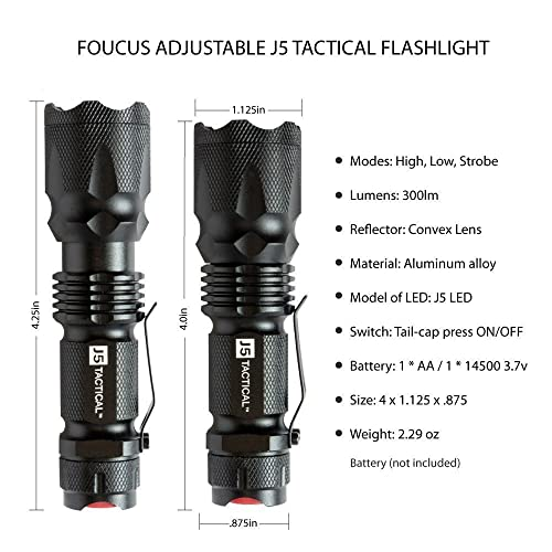 J5 Tactical V1-Pro Flashlight overview