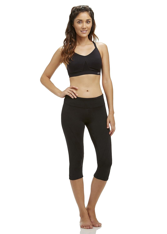 Marika Womens Standard Ava Performance Curvy Capri Leggings